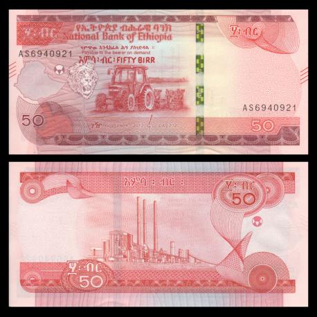 Ethiopia, P-54a, 50 birr, 2020