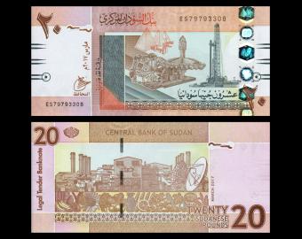Sudan, P-74d2, 20 pounds, 2017
