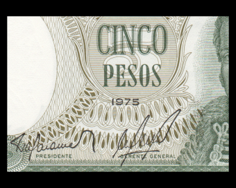 Chile, P-149a, 5 pesos, 1975