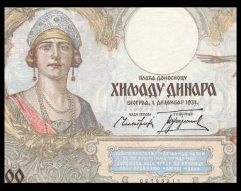 Yugoslavia, P-029, 1000 dinara, 1931