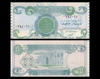 Iraq, P-79, 1 dinar, 1992