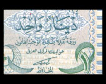 Iraq, P-079, 1 dinar, 1992