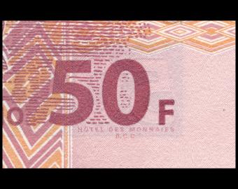 Congo, P-91A, 50 francs, 2000