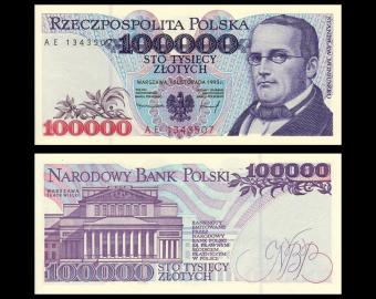 Poland, P-160, 100 000 zlotych, 1993