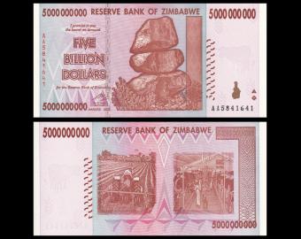 Zimbabwe, P-84, 5 000 000 000 dollars, 2008