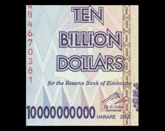Zimbabwe, P-85, 10 000 000 000 dollars, 2008