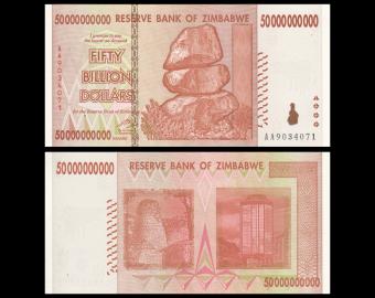 Zimbabwe, P-87, 50 000 000 000 dollars, 2008