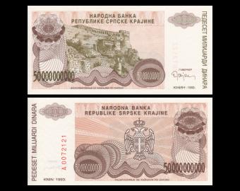 Croatia, P-R29, 50.000.000.000 dinara, 1993