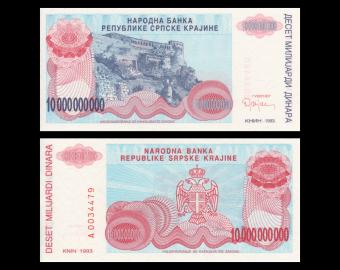 Croatia, P-R28, 10.000.000.000 dinara, 1993