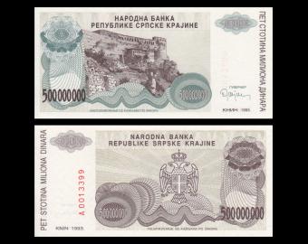 Croatia, P-R26, 500.000.000 dinara, 1993