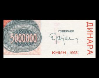 Croatia, P-R24, 5.000.000 dinara, 1993