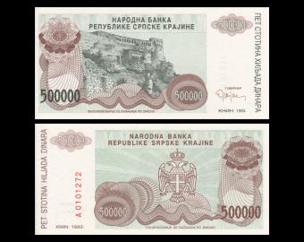 Croatia, P-R23, 500.000 dinara, 1993
