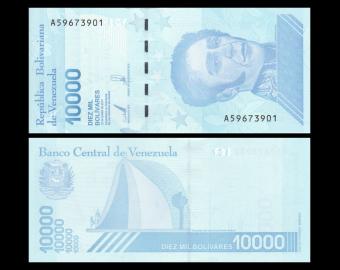 Venezuela, P-109b, 10.000 bolívares soberanos, 2019