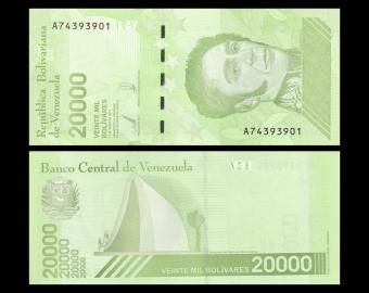 Venezuela, P-110b, 20.000 bolívares soberanos, 2019