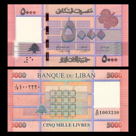 Lebanon, P-91b, 5 000 livres, 2014