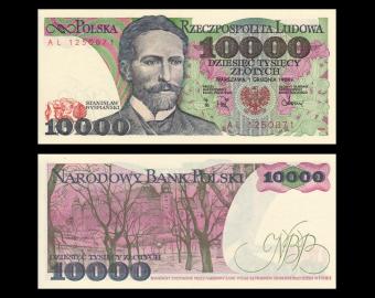 Poland, P-151b, 10 000 zlotych, 1988