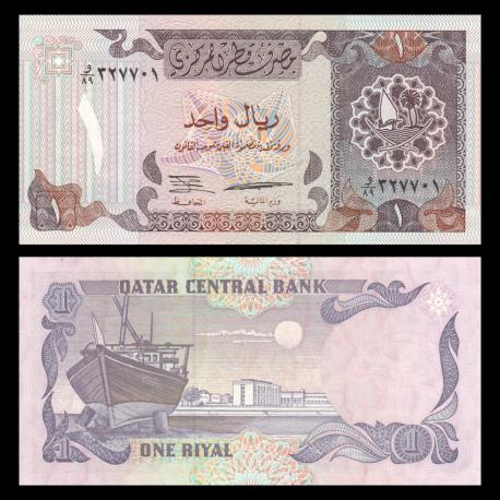 Qatar, P-14b, 1 riyal, 1996