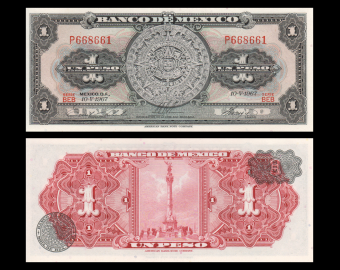 Mexico, P-059j, 1 peso, 1967