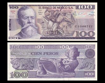 Mexico, P-074c, 100 pesos, 1982