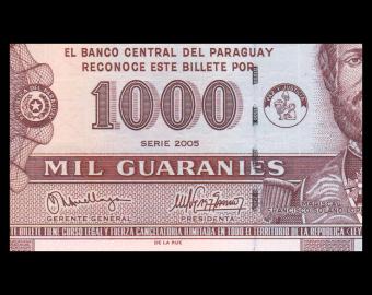 Paraguay, P-222b, 1.000 guaranies, 2005
