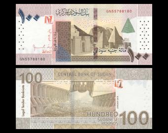 Sudan, P-77, 100 pounds, 2019