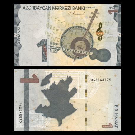 Azerbaijan, P-New, 1 manat, 2020