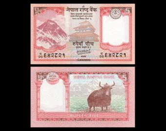 Nepal, P-76b, 5 roupies, 2020