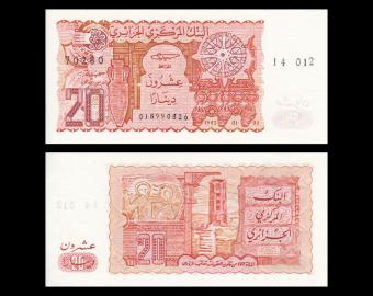 Algeria, P-133b, 20 dinars, 1983