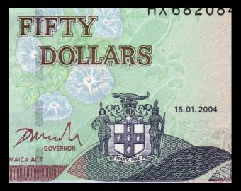 Jamaica, P-79e, 50 dollars, 2004