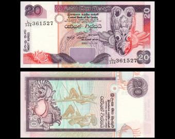 Sri Lanka, P-109d, 20 rupees, 2005