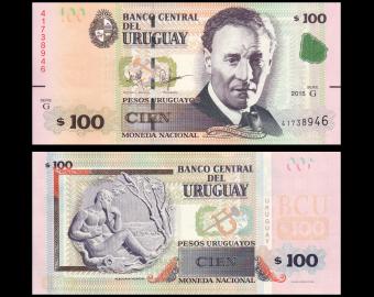 Uruguay, P-095, 100 pesos, 2015
