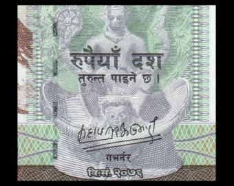 Nepal, P-77b, 10 roupies, 2020