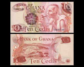 Ghana, p-16f, 10 cedis, 1978