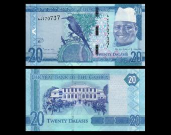 Gambia, P-33, 20 dalasis, 2015