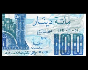 Algeria, P-131a3, 100 dinars, 1981
