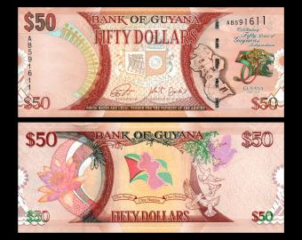 Guyana, P-41, 50 dollars, 2016