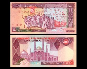 I, P-139a2, 5.000 rials, 1983
