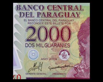 Paraguay, P-228b, 2000 guaranies, 2009, Polymer