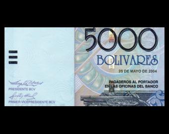 Venezuela, P-084c, 5 000 bolivares, 2004
