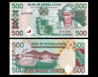Sierra Leone, P-23b, 500 leones, 1998
