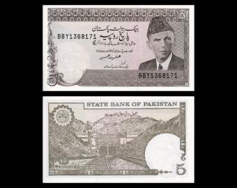 Pakistan, P-38, 5 rupees, 1983 (sign6)