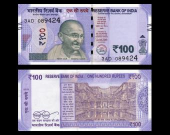 India, P-112c, 100 rupees, 2018