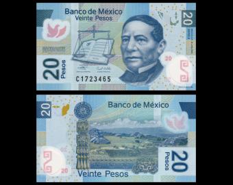 Mexico, P-122a, 20 pesos, 2006, Polymer