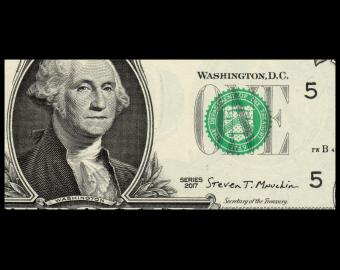 USA, P-544Ea, 1 dollar, Virginia, 2017