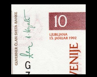Slovenia, P-11, 10 tolarjev, 1992