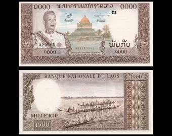 Laos, P-14b, 1000 kip, 1963
