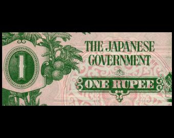 Japanese occupation - Burma, P-14a, 1 rupee, 1942, Presque Neuf / a-UNC