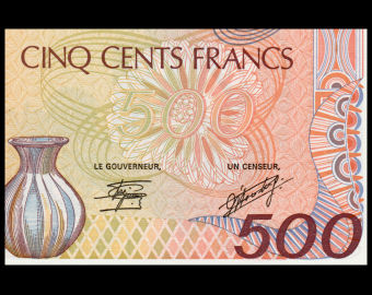 Central African Republic, P-14c, 500 francs, 1987