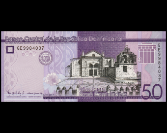Dominican Rep, P-189d, 50 pesos, 2017