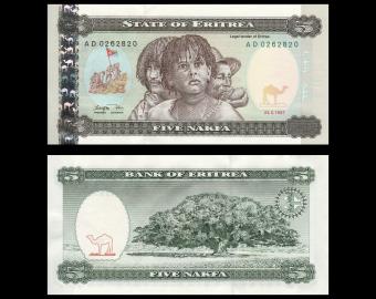 Eritrea, P-2, 5 nakfa, 1997